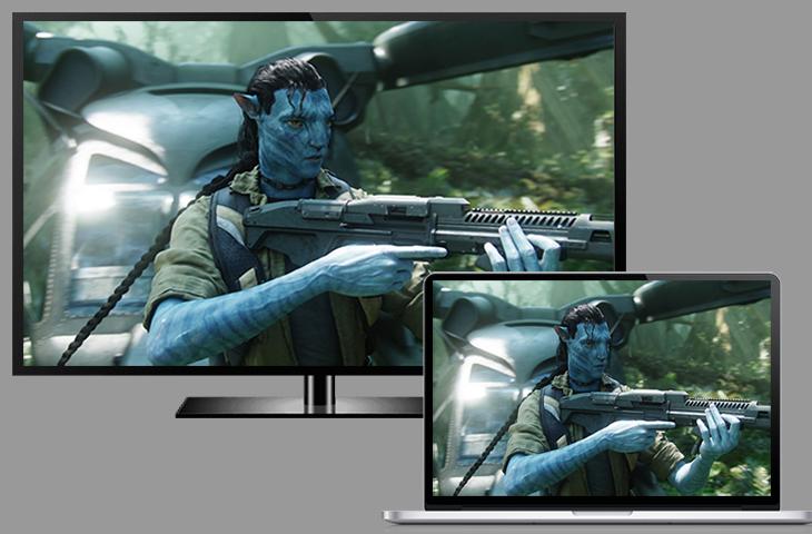 Màn hình MacBook chiếu trên tivi