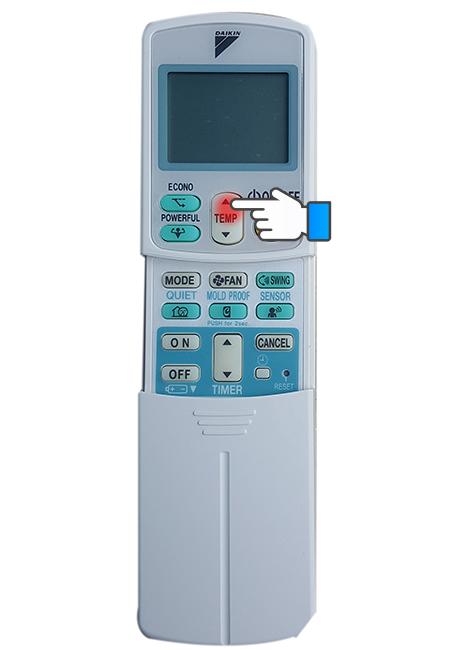 Điều chỉnh nhiệt độ cho máy lạnh.