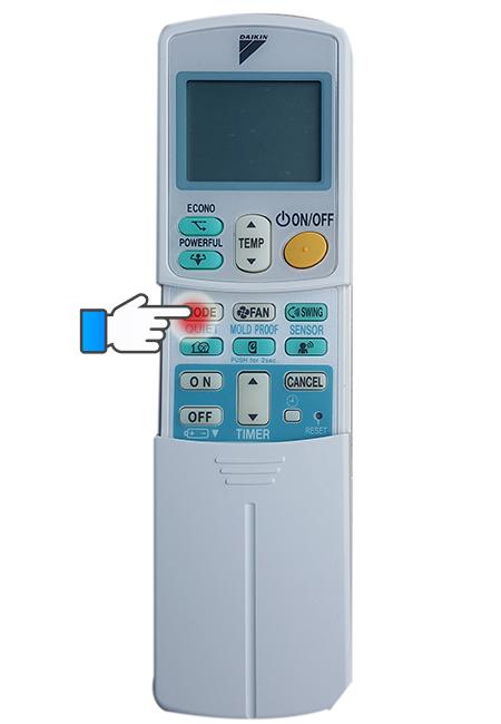 Thay đổi các chế độ hoạt động của máy lạnh.