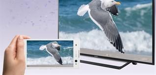 Cách chiếu màn hình điện thoại lên Internet tivi Sony 2016