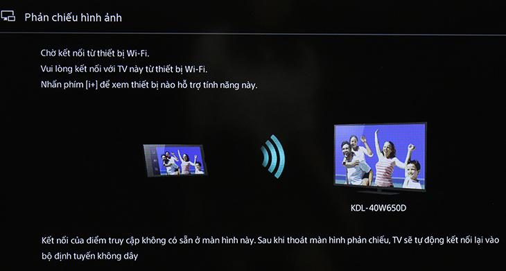 Tivi đang chờ kết nối