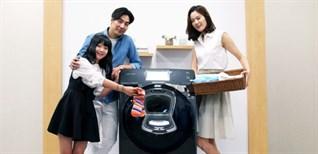 Tính năng thêm đồ giặt với cửa phụ Add door trên máy giặt Samsung