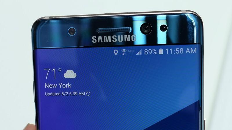 Phân biệt Galaxy Note 7 mới bằng biểu tượng pin