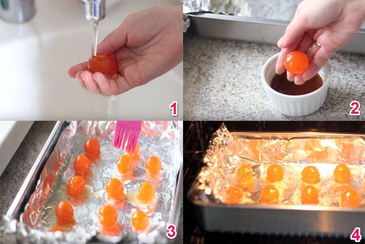 Cách làm bánh bông lan trứng muối bằng nồi cơm điện