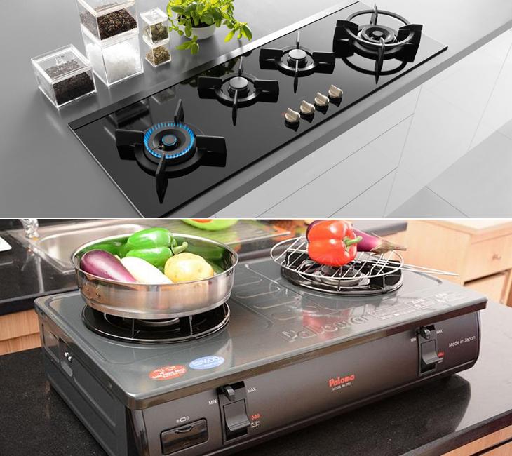 So sánh bếp ga âm và bếp ga dương