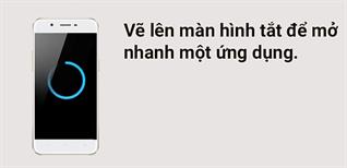 Vẽ lên màn hình tắt để mở nhanh ứng dụng trên điện thoại