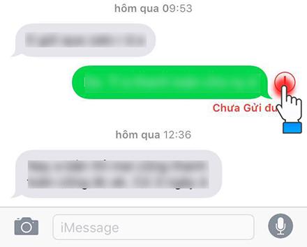 Thử gửi lại tin nhắn