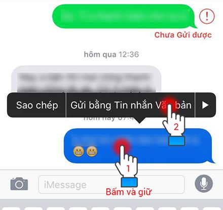 Gửi nhanh qua SMS