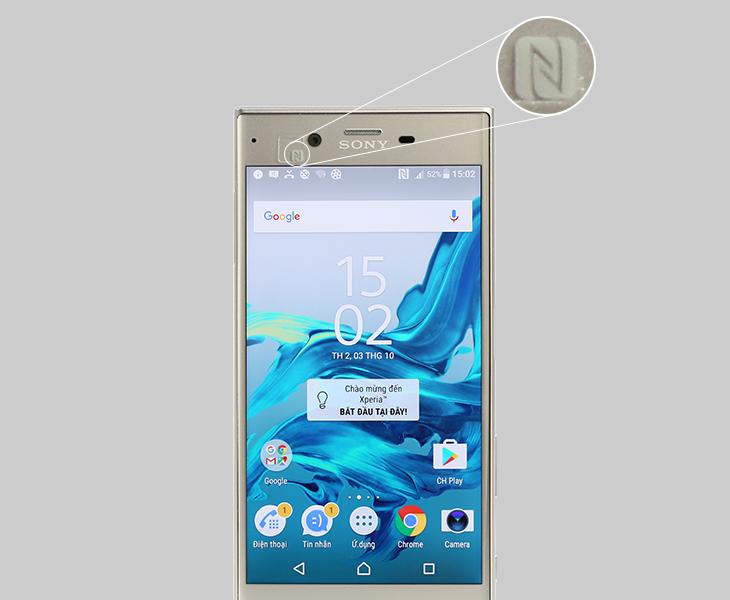 Logo NFC trên điện thoại Sony