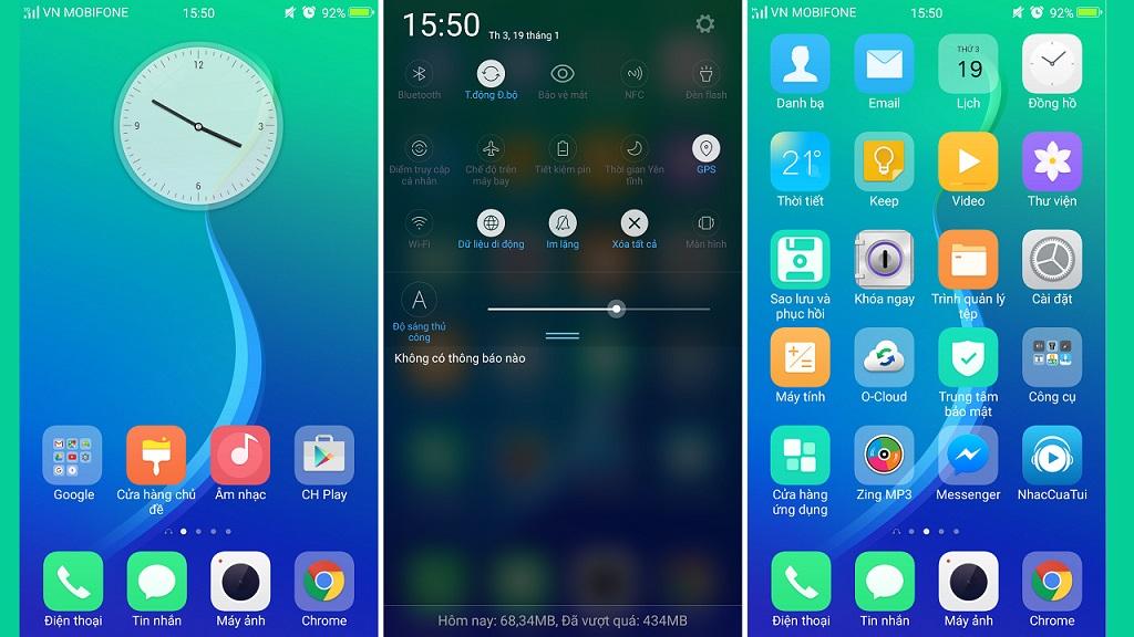 Bộ Theme Color OS 3 0 truyệt đẹp cho điện thoại OPPO