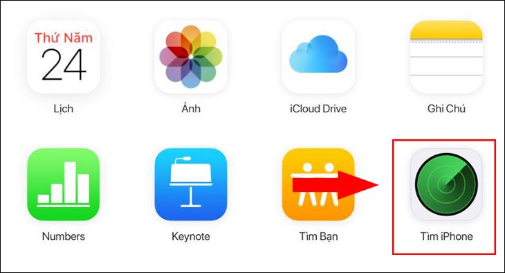 Chọn Tìm iPhone