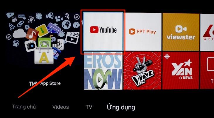 Ứng dụng Youtube trên tivi TCL