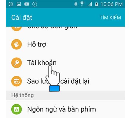 Cách xóa tài khoản CH Play trên điện thoại Android