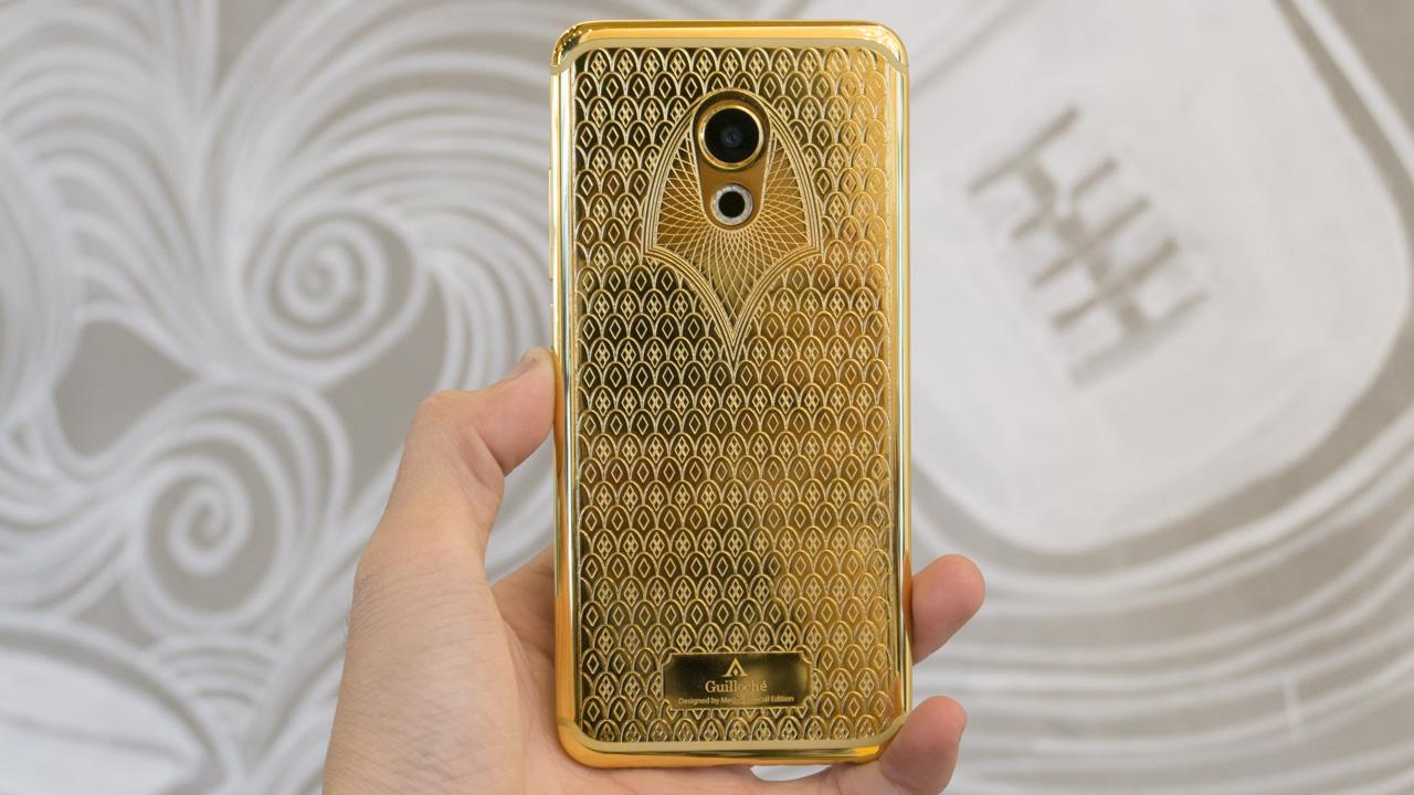 Trên tay Meizu Pro 6 Guilloché mạ vàng 24K duy nhất trên thế giới. - ảnh 1