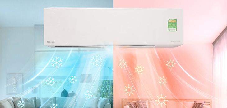 điều hòa 2 chiều có thể sử dụng được cả mùa nóng và mùa lạnh