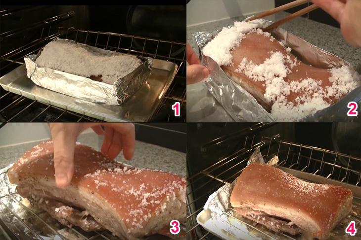 Cách nướng thịt heo giòn da bằng lò nướng