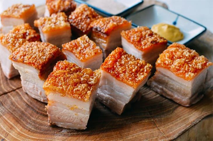 Bước 3 Thành phẩm Thịt heo nướng da giòn