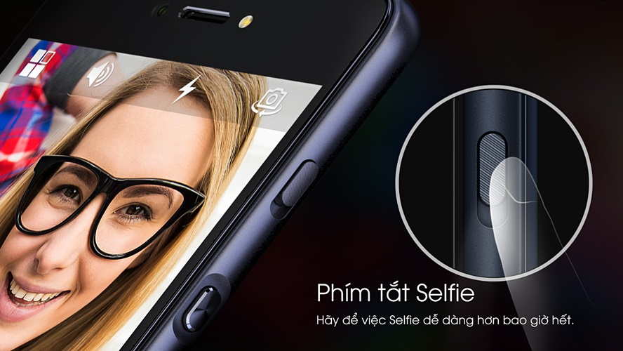 LAI Yuna X là chiếc smartphone đầu tiên có nút selfie chuyên dụng