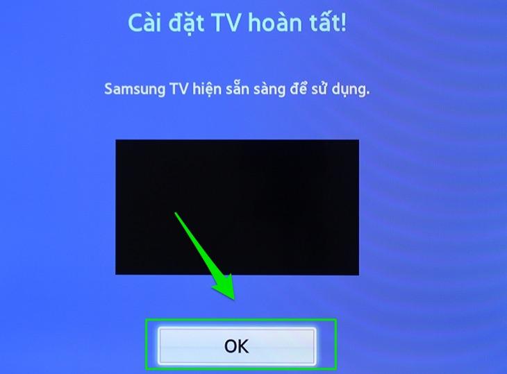 Hoàn thành reset tivi