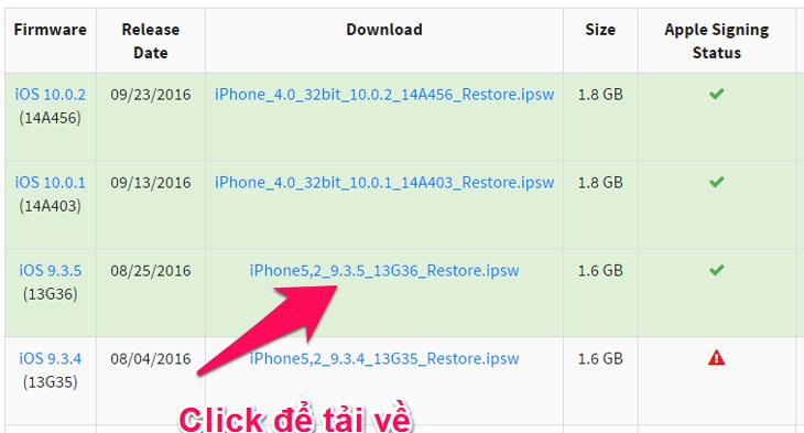Tải về iOS 9.3.5 - Hướng dẫn hạ cấp iOS 10 xuống iOS 9
