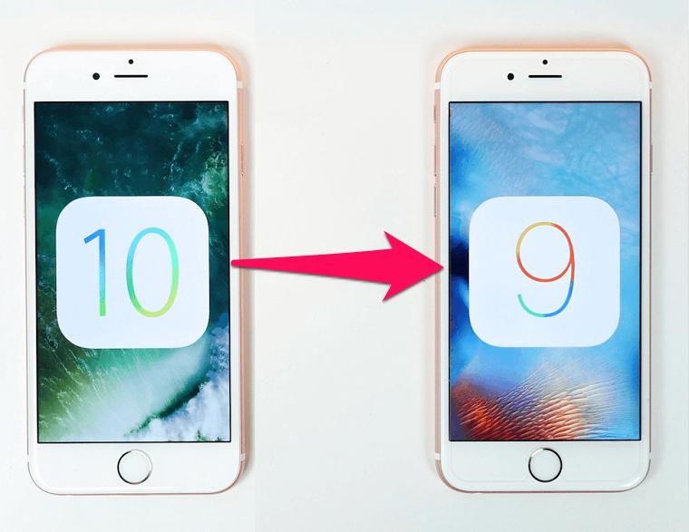 Hạ cấp iOS 10 xuống iOS 9