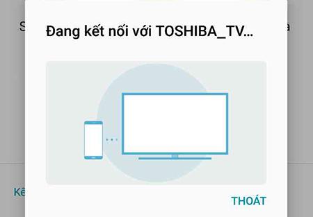 Điện thoại và tivi đang kết nối