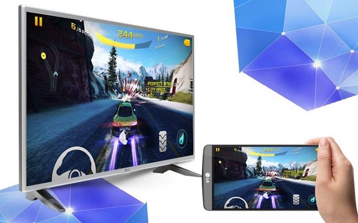 Chiếu màn hình từ điện thoại lên màn hình tivi