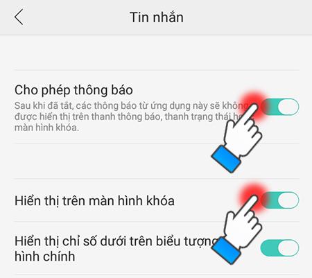 Cách khắc phục lỗi không hiện thông báo khi có tin nhắn trên OPPO F1S