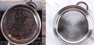 Cách làm sạch vết cháy dưới đáy nồi chảo siêu nhanh