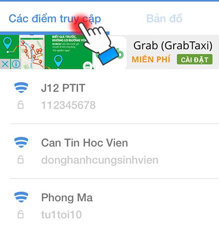 Danh sách các wifi kèm mật khẩu tương ứng