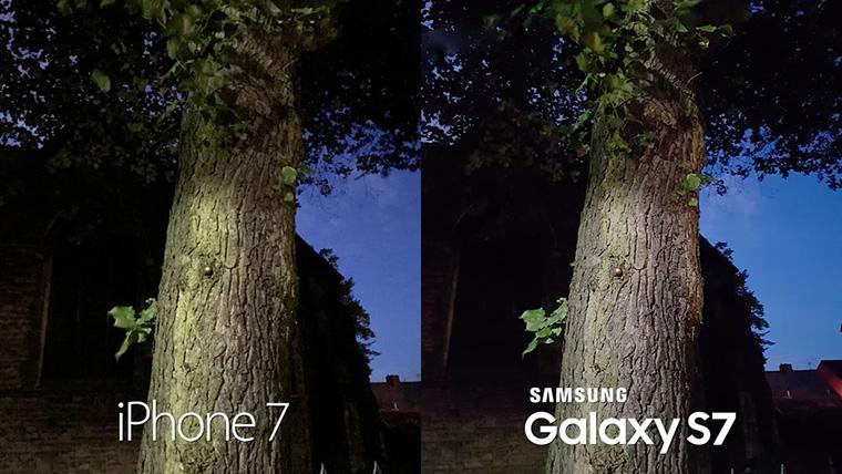 Một bức ảnh chụp thử từ Galaxy S7 và iPhone 7