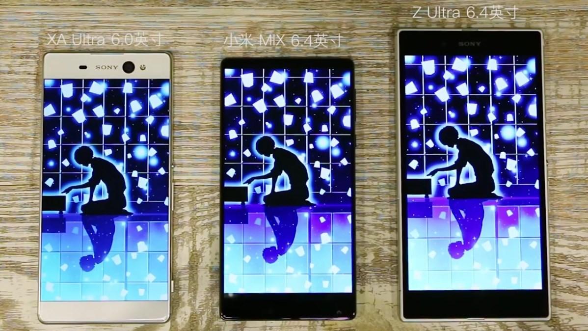 Xem video Xperia XA Ultra, Xperia Z Ultra đặt cạnh Xiaomi Mi MIX