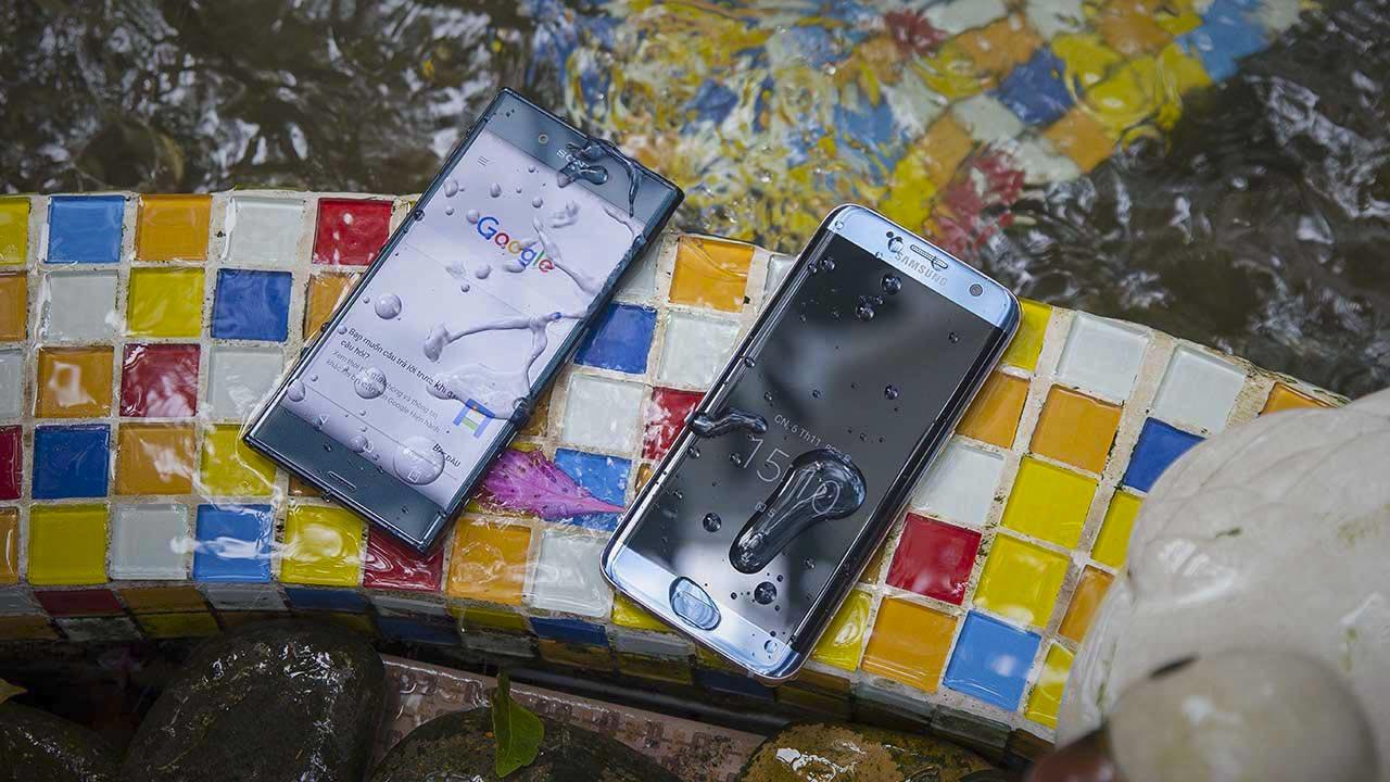 đọ dáng S7 Edge và Xperia XZ