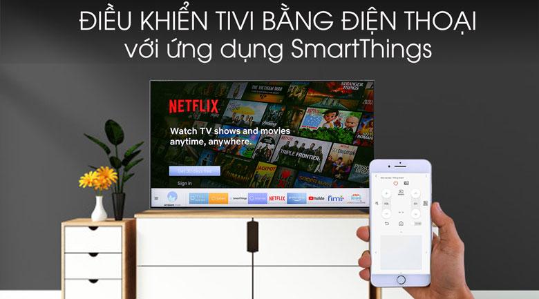 Điều khiển tivi bằng điện thoại thông minh trên tivi Samsung