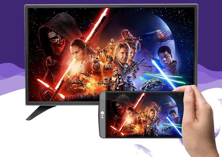 Khả năng trình chiếu hình ảnh từ điện thoại lên tivi