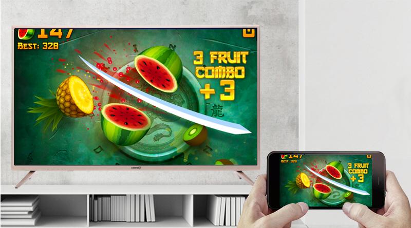 Thoả sức giải trí với chức năng chiếu màn hình điện thoại lên tivi smart tivi Asanzo