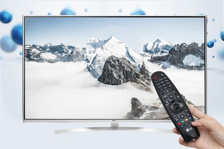Điều khiển Smart tivi LG bằng magic remote