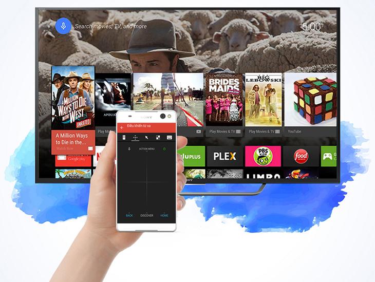Điều khiển tivi Sony bằng điện thoại
