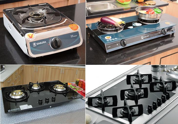 Tùy theo nhu cầu sử dụng bếp gas có đa dạng lựa chọn về số lượng lò nấu