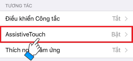 Chọn AssistiveTouch