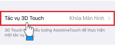 Chọn tác vụ 3D Touch