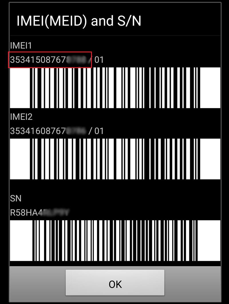 Kiểm tra IMEI trên điện thoại