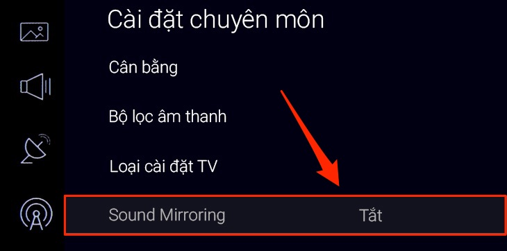 Chọn Sound Mirroring