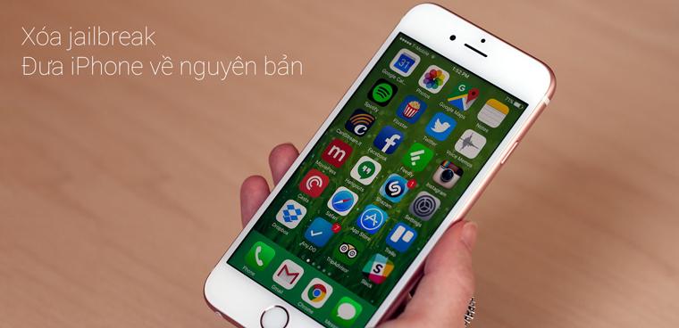 Cách gỡ bỏ hoàn toàn jailbreak trên iPhone