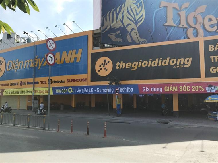 Siêu thị điện máy xanh tại Số 227 Kinh Dương Vương, P. 12, Q. 6, TP. HCM (Đối diện công viên Phú Lâm, cạnh cây xăng Mũi Tàu)