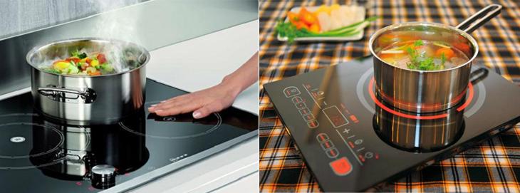 Bếp từ và bếp hồng ngoại có nhiều điểm tương đồng