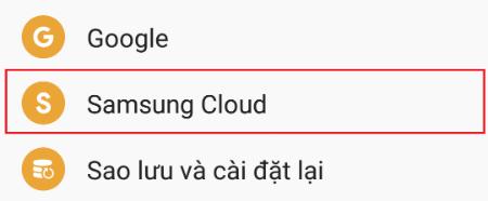 Cách sao lưu dữ liệu lên Samsung Cloud trên Samsung J7 Prime