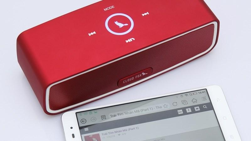 Loa Bluetooth Cloud Fox BS7 phiên bản màu đỏ