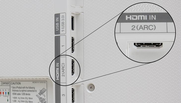 Cổng HDMI (ARC) trên tivi