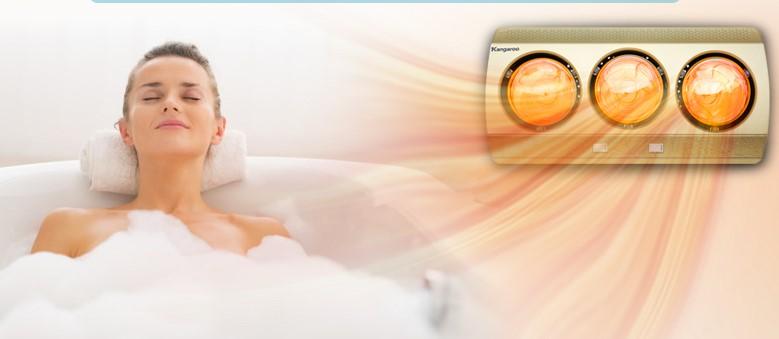 Đèn sưởi nhà tắm sẽ không gây khô da